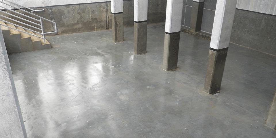 Concrete Cooling Tower Basin - VF20 Primer Application