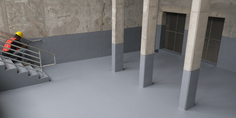 Concrete Cooling Tower Basin - FSS 45DC Application