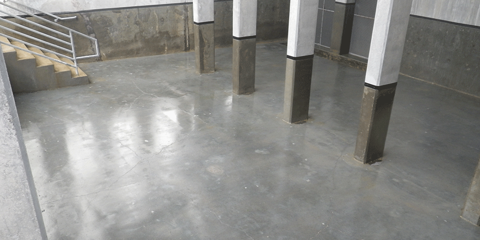 Concrete Cooling Tower Basin - VF20 Primer Application