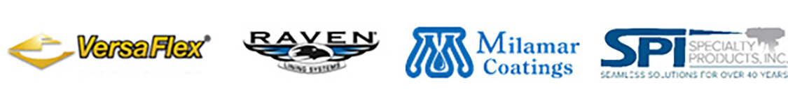 Company Logos for versaflex, raven, milamr, and SPI