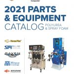 cover of 2021 parts and equipment catalog for polyurea and spray foam